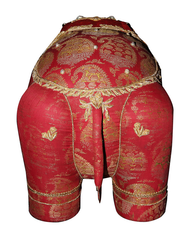 Red Textile Elephant Stool