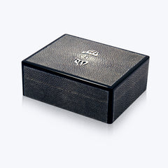 Galuchat Box with Silver decoration