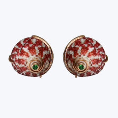 Top Shell Cufflinks with Tsavorite