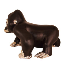Brown Leather Gorilla Stool