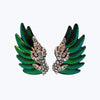 Scarab Earrings with Diamond