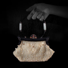 Pearl Handbag with Diamonds