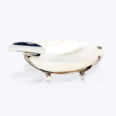 Batulaga Shell Ashtray with Silver