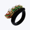 Naga Ring with Pearl and Enamel wt.12.57g