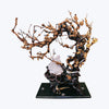 Wooden Tree Sculpture with Birds and Abalone Shell Butterfly