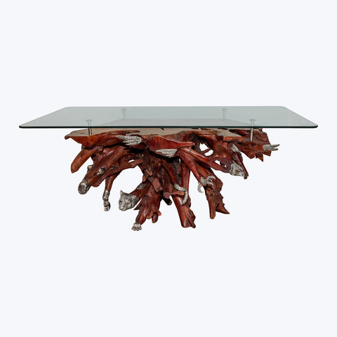 Wild Jungle Table  with Silver Falcon, Cheetah & Horse