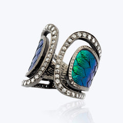 Scarab Ring Decorated with Diamonds