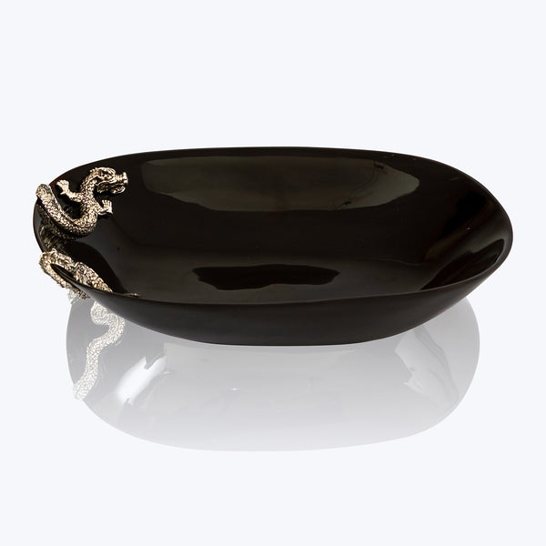 Buffalo Horn Bowl with Dragon