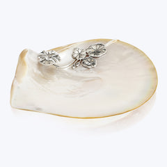 Mother of Pearl Plate with Lotus Leaf