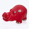 Red Leather Hippo Stool