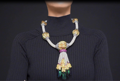 Puang Ma Lai Necklace with Scarab & Pearl