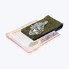 Cow Leather Money Clip with Dragon Fish Eye