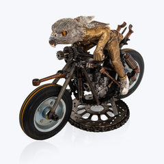 Motorbike with Silver Falcon