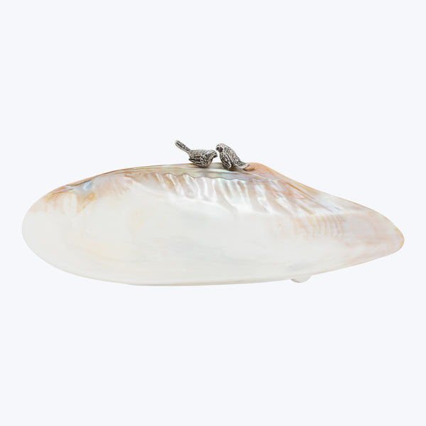 Shell Bowl with Birds