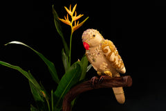 Golden Textile  Parrot on Liana wood Stand