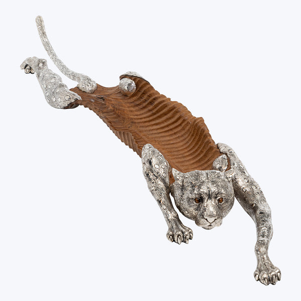 Hunting Cheetah Sculpture