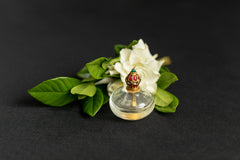 Rock Crystal Perfume Bottle set with Natural Burmese Cabochon Rubies