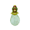 Carved Rock Crystal Perfume Bottle with Enamel