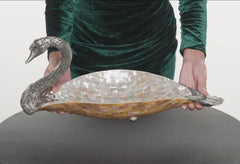 Mother of Pearl Swan Bowl