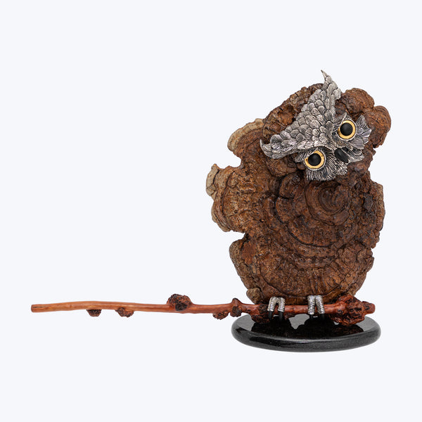 Lingzhi Owl Sculpture