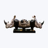 Double Headed Rhino Sculpture