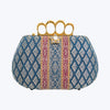 Woven Jewelled Silapacheep Clutch With a Diamond Studded Flower