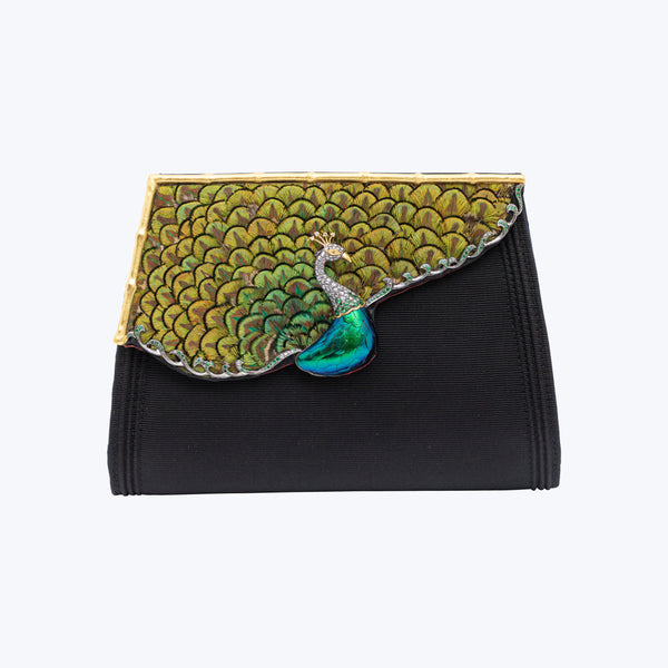 Prancing Peacock Clutch