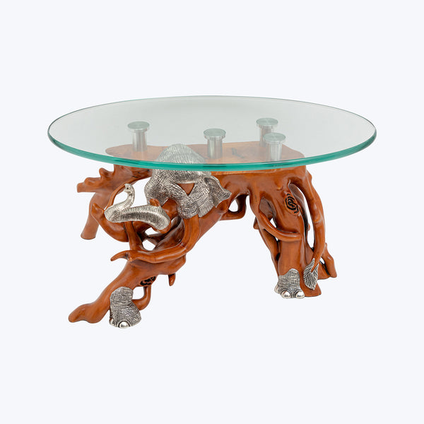 Elephant Low Table with 'Box' Wood