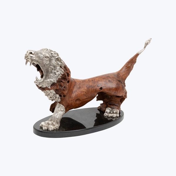 Lion Sculpture with Sandalwood