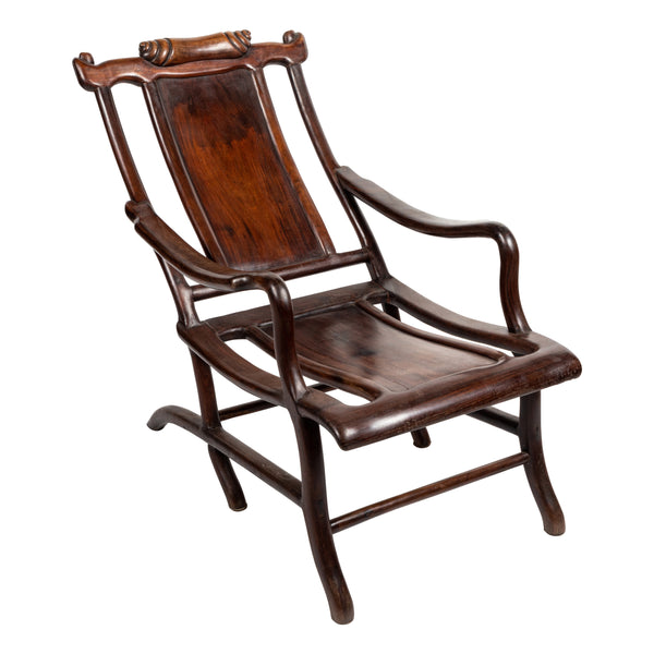 Chinese Rosewood Lounge Chair