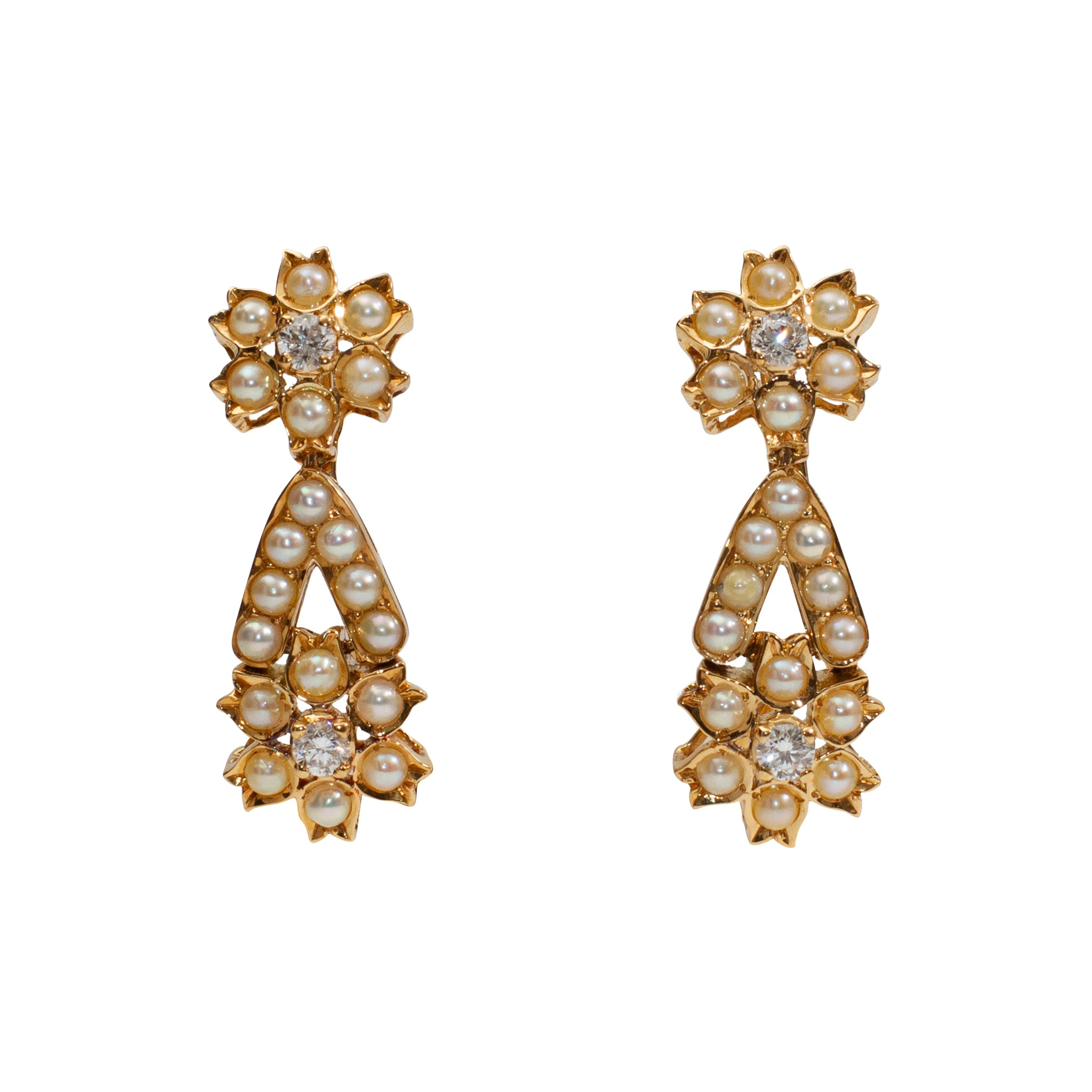 Basra Pearl Earings in 18K Gold
