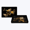 Japanese Lacquer Raden Trays with Moon and Tree Motif ( 2pcs/set )
