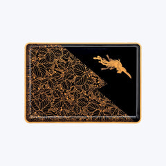 Japanese Lacquer Tray with Mythical Pheonix Motif