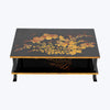 Japanese Nashiji Lacquer Low Table with Flower Motifs