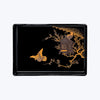 Japanese Lacquer Tray with Birds Nest and Birds Motif