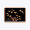 Japanese Lacquer Tray  with Birds and Tree Motifs