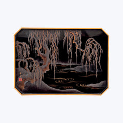 Japanese Lacquer Tray with Vine Tree Motifs