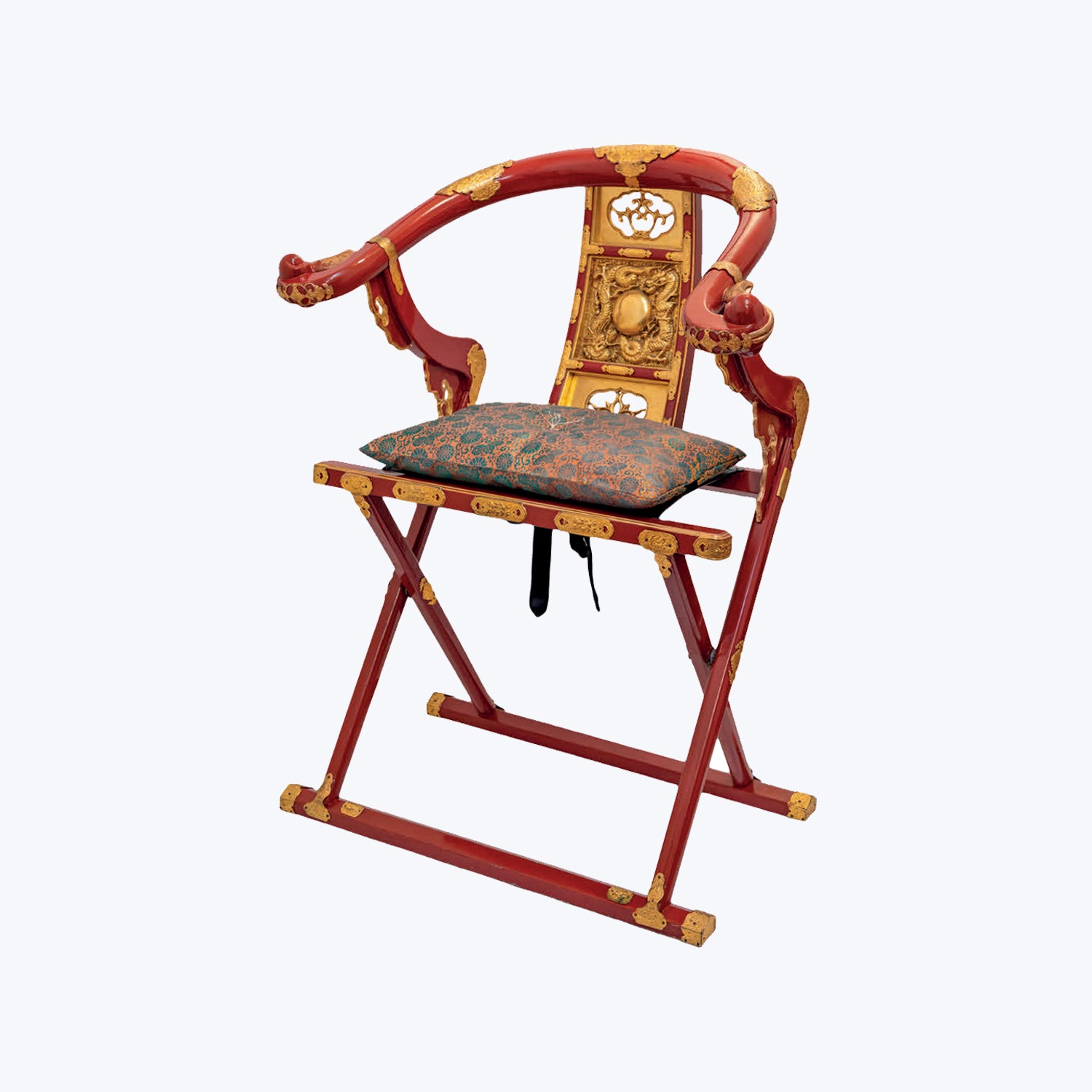 Japanese Folding Chair (Kyokuroku) for Priests