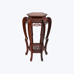 Carved Rose Wood Table with Cabrole Legs