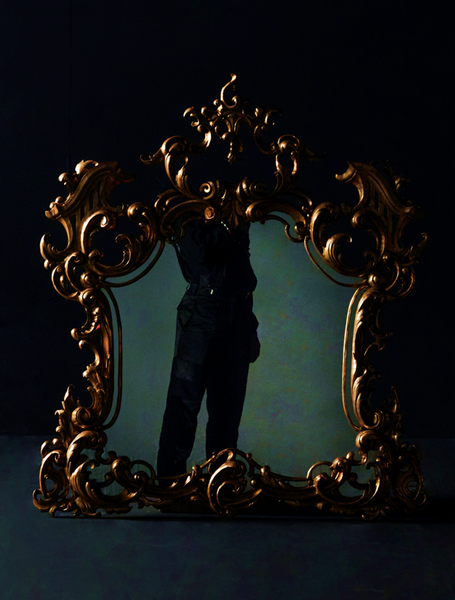 18th Century Victorian Mirror with Gold Leaf Ornate Frames