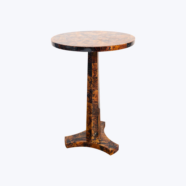Brown Shell Side Table