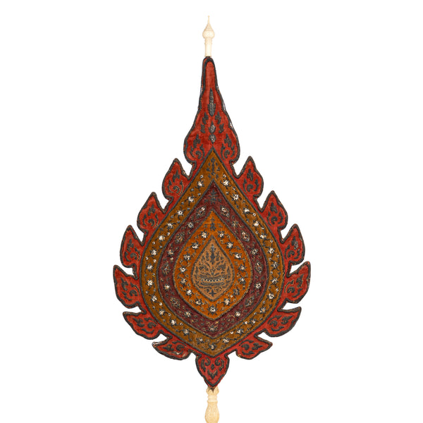 Antique Talapad Ceremonial Fan For The Cardinal Monk