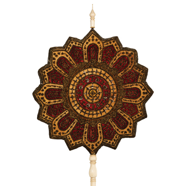 Antique Talapad Ceremonial Fan For The Monastery Provost
