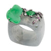 Jade Ring with Goldfish