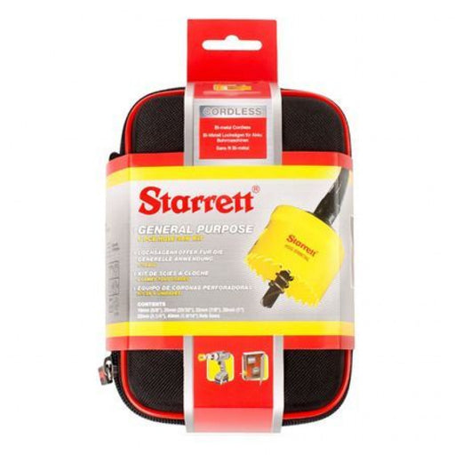 STARRETT THINWALL HOLESAW KIT 6 Pce 16-40mm KCS06001