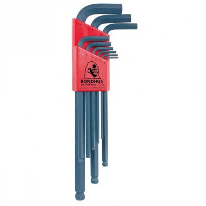 BLX9 B/END HEX KEY SET 1.5-10mm BONDHUS BD10999