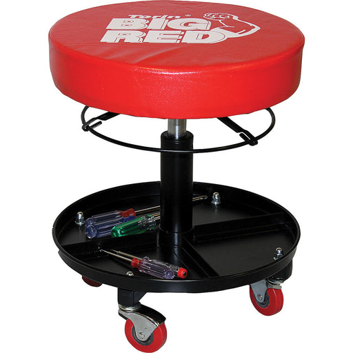 Creeper Seat Round Adjustable Storage Tray 4-Castors TR6201C
