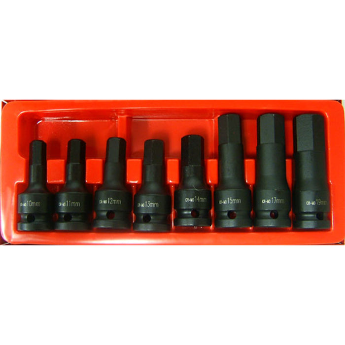 "1/2"" Drive Inhex Socket Set Impact Metric 9PC Impact"