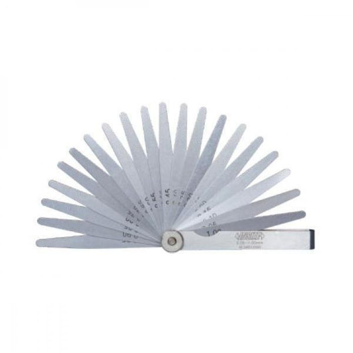 Insize Feeler Gauge (.05 -1.00mm x .05mm) 200mm x 20 Leaves 4605-201