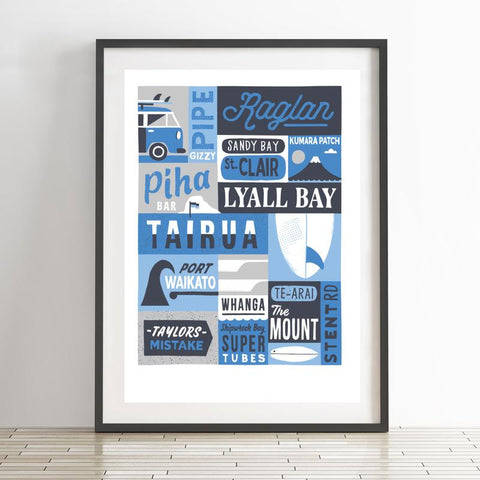 Surf Breaks Print